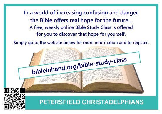 Bible Study Class card